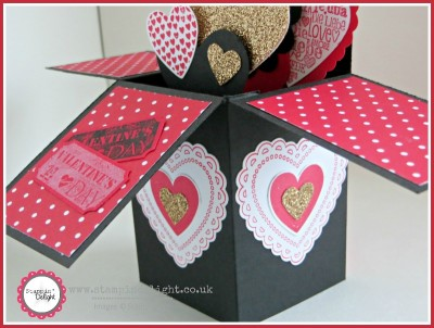 Stampin' Up Valentines Card in a Box