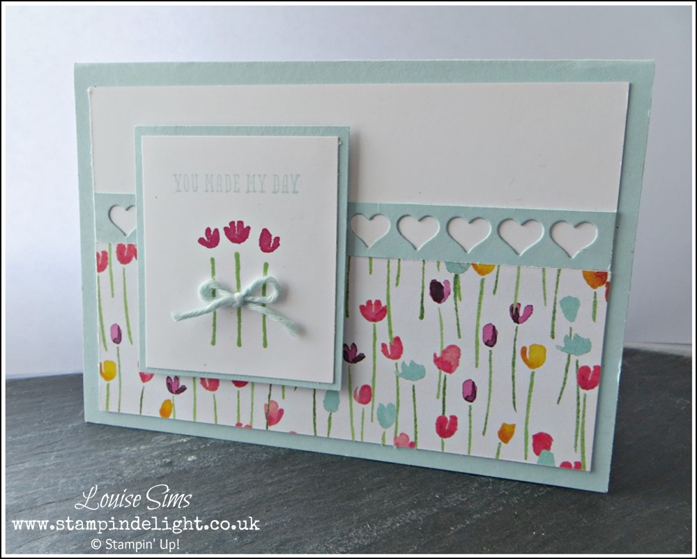 Painted Blooms Heart Border Card (2)