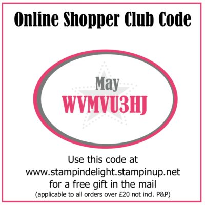 Stampin Up Online Shopper Club May