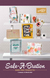 Select FREE Stampin' Up! products with a qualifying spend during Sale-a-bration UK demo
