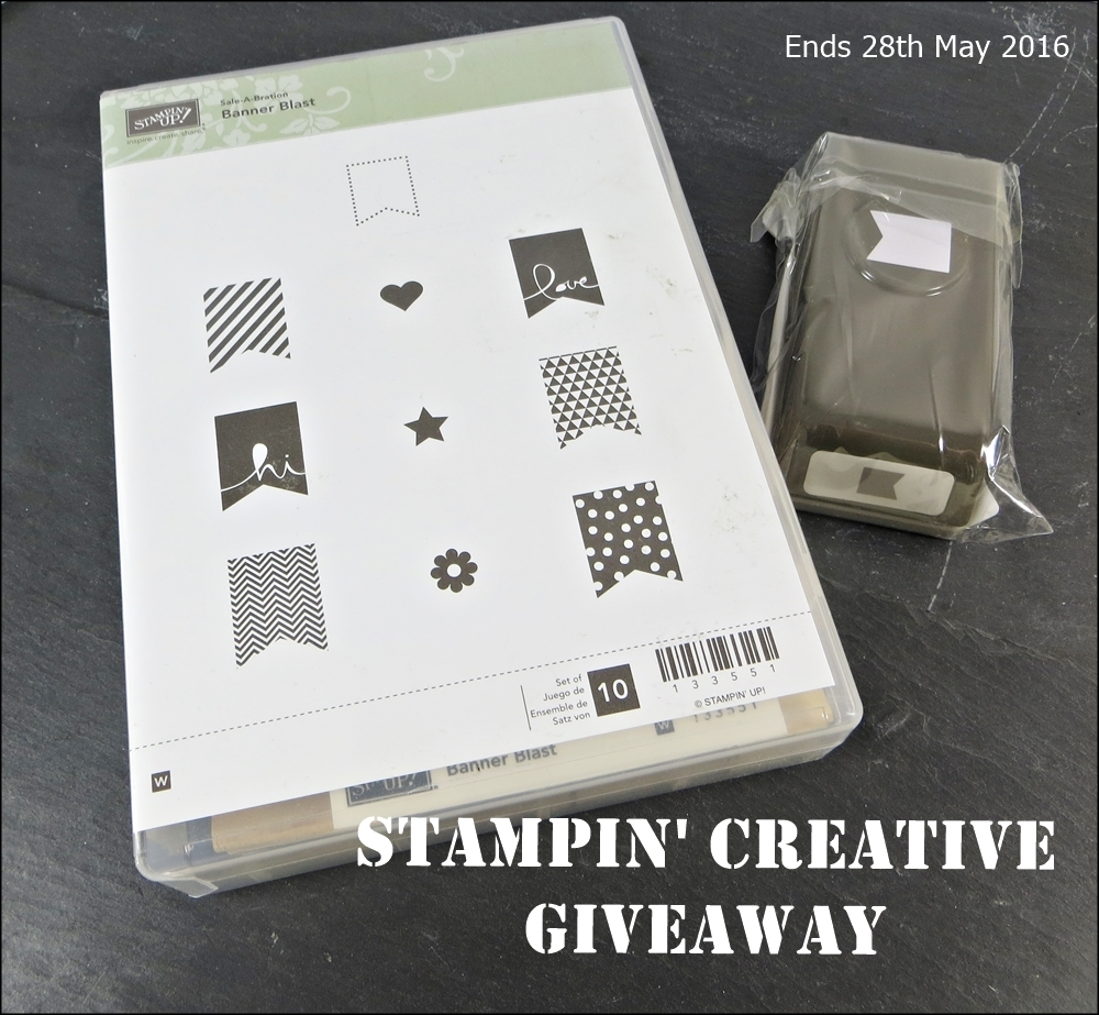 Stampin' Creative Giveaway - leave a comment to be in with a chance to win these Stampin' Up goodies. Ends 28th May 2016