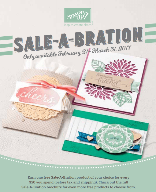 Stampin Up Sale-a-bration UK Demonstrator