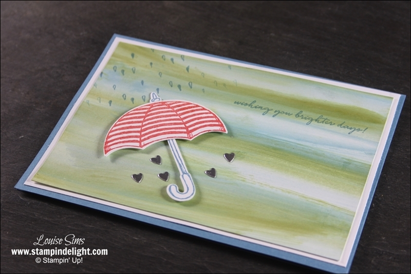 Stampin' Up! Weather Together with Baby Wipe Technique