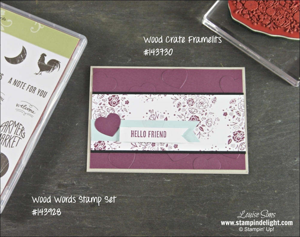 Stampin' Up!'s Wood Words stamp set is fun to create with.
