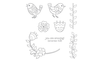 Stampin' Up! Feathery Friends Stamp Set